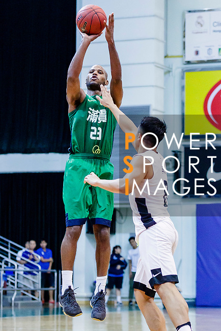 Austin Bryant M #23 of Tycoon Basketball Team tries to score against the HKPA during the Hong Kong Basketball League game between HKPA and Tycoon at Southorn Stadium on June 22, 2018 in Hong Kong. Photo by Yu Chun Christopher Wong / Power Sport Images