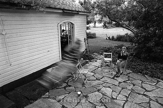 Rick Egan on the swing at Todd Crosland's house (slow shutter). Kristan Jacobsen below.<br />