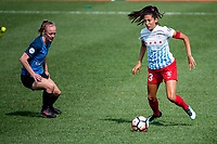 Kansas City, MO - Saturday September 9, 2017: Becky Sauerbrunn, Christen Press during a regular season National Women's Soccer League (NWSL) match between FC Kansas City and the Chicago Red Stars at Children's Mercy Victory Field.