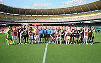 DC United and AFC Ajax join team photo.    AFC Ajax defeated DC United 2-1 during an International Friendly at RFK Stadium Sunday May 22, 2011.