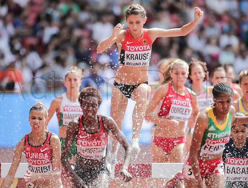 24.08.2015. Beijing, China.  Germany's Gesa Felicitas Krause competes at the Women's 3000 Meter Steeplechase Round 1 on the 15th International Association of Athletics Federations (IAAF) Athletics World Championships in Beijing, China, 24 August 2015.
