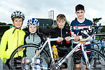 Pedal Strength<br /> --------------------<br /> L-R Tom O'Flaherty, Gary O' Riordan, Alex McGrath and Keith O'Mahony ready for the Harvest cycle in aid of Ardfert NS.