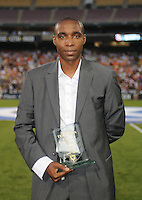 DC United former defender Eddy Pope after being inducted in the DC United Hall of Fame. LA Galaxy defeated DC United 2-1 at RFK Stadium, Saturday July 18, 2010.