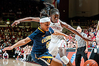 STANFORD, CA-JANUARY 28, 2011: Chiney Ogwumike battles for a loose ball during a 74-71 overtime win over the Cal Bears.