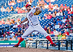 8 July 2017: Washington Nationals pitcher Joe Blanton on the mound against the Atlanta Braves at Nationals Park in Washington, DC. The Braves shut out the Nationals 13-0 to take the third game of their 4-game series. Mandatory Credit: Ed Wolfstein Photo *** RAW (NEF) Image File Available ***