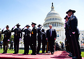 United States President Donald J. Trump arrives for the 38th annual National Peace Officers' Memorial Service, at the U.S. Capitol in Washington, D.C. on May 15, 2019. <br /> Credit: Kevin Dietsch / Pool via CNP