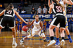 BROOKINGS, SD - JANUARY 7:  Alexis Alexander #1 from South Dakota State looks to make a move against the defense from the University of Nebraska Omaha during their game Saturday afternoon at Frost Arena in Brookings. (Dave Eggen/Inertia)