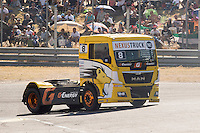 French driver Anthony Janiec belonging Portugese team Lion Truck Racing during the fist race R1 of the XXX Spain GP Camion of the FIA European Truck Racing Championship 2016 in Madrid. October 01, 2016. (ALTERPHOTOS/Rodrigo Jimenez) /NortePHOTO /NORTEPHOTO.COM