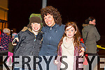 Trish Griffin, Diarmuid Griffin and Roisin Griffin from Blennerville enjoying  the New Year's Eve fireworks display at Manor on Wednesday evening