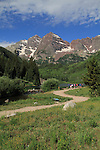 The Maroon Bells Peaks in summer, Aspen, Colorado .  John leads hiking and photo tours throughout Colorado. .  John offers private wildflower tours in the Crested Butte area and throughout Colorado. Year-round. .  John leads hikes and private photo tours in Boulder and throughout Colorado. Year-round.