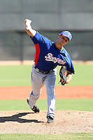 Justin Grimm - Texas Rangers - 2010 Instructional League.Photo by:  Bill Mitchell/Four Seam Images..