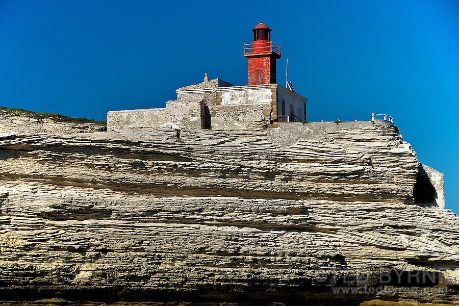 Madonnetta Red Lighthouse near Bonifacio Corsica