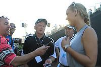 Rory McIlroy (NIR) Girlfriend Caroline Wozniacki speaking to the media  on the third day of the DUBAI WORLD CHAMPIONSHIP presented by DP World, Jumeirah Golf Estates, Dubai, United Arab Emirates.Picture Fran Caffrey www.golffile.ie