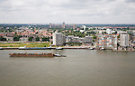Shipping on the Oude Maas River at Zwijndrecht viewed from Dordrecht, Netherlands