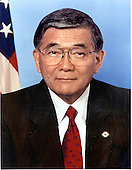 Washington, D.C. - OFFICIAL PORTRAIT OF U.S. SECRETARY OF TRANSPORTATION NORMAN Y. MINETA -- Norman Y. Mineta is the longest serving Secretary in the history of the United States Department of Transportation, becoming the 14th Secretary of Transportation on January 25, 2001.  He was also the first Asian-American Cabinet member during the Clinton administration, and the first Cabinet member to switch directly from a Democratic to a Republican Cabinet. In December 2004, Secretary Mineta accepted President Bush's invitation to continue his service in the Cabinet during the President's second term.  As Secretary of Transportation, Mineta oversees an agency with almost 60,000 employees and a $61.6 billion budget. Created in 1967, the U.S. Department of Transportation brought under one umbrella air, maritime and surface transportation missions.  At the U.S. Department of Transportation, Secretary Mineta has delivered on the President's historic commitment to safety. During his first four years as Secretary, America achieved the lowest vehicle fatality rate ever recorded, the highest safety belt usage rate ever recorded, and the lowest rail fatality level ever recorded. The Secretary has overseen the safest three-year period in aviation history. In addition, Secretary Mineta was instrumental in persuading every state in the country to set a blood alcohol rate at .08 percent, an alcohol level that has proved to be effective in preventing automobile crashes and improving safety.  Secretary Mineta also oversaw the Coast Guard's response to the terrorist attacks of September 11, 2001, including developing the Sea Marshal Program, Maritime Safety and Security Teams, and expanding the number and mission of Coast Guard Port Security Units. Secretary Mineta guided the creation of the Transportation Security Administration, an agency of more than 60,000 employees charged with protecting Americans as they travel across our country. Starting from a blank sheet of paper on Nov. 19, 20