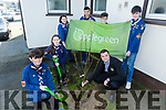 Scouts  Plant Tree for National Tree Week on Saturday Pictured L- R Sean O'Donnell, Grainne O'Donnell, Maura O'Donnell, Alusin Jah, Gavin Mulvihill, Ryan O'Donnell with Karolis Streimikis from Applegreen, Manor Village Tralee