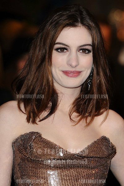 "Anne Hathaway arrives for the ""Alice in Wonderland"" royal world premiere at the Odeon Leicester Square, London.  25/02/2010  Picture by: Steve Vas / Featureflash"