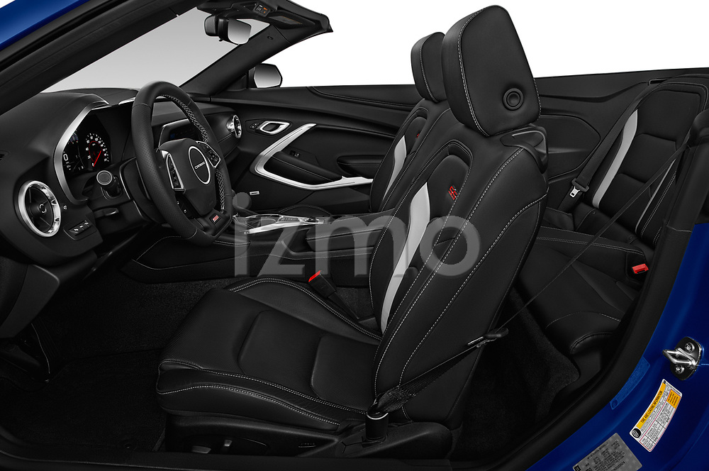 Front seat view of a 2019 Chevrolet Camaro 2SS 2 Door Convertible front seat car photos