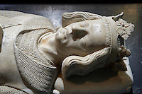 Medieval tomb of Charles 1st of Anjou (1226-1285) King of Naples and Sicily from 1266 to 1285 and son of Louis VIII and Blanche of Castille. . The Gothic Cathedral Basilica of Saint Denis ( Basilique Saint-Denis ) Paris, France. A UNESCO World Heritage Site.