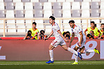 Sardar Azmoun of Iran (L) celebrates scoring the second goal during the AFC Asian Cup UAE 2019 Group D match between Vietnam (VIE) and I.R. Iran (IRN) at Al Nahyan Stadium on 12 January 2019 in Abu Dhabi, United Arab Emirates. Photo by Marcio Rodrigo Machado / Power Sport Images