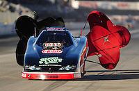 Nov 14, 2010; Pomona, CA, USA; NHRA top alcohol funny car driver Mickey Ferro during the Auto Club Finals at Auto Club Raceway at Pomona. Mandatory Credit: Mark J. Rebilas-