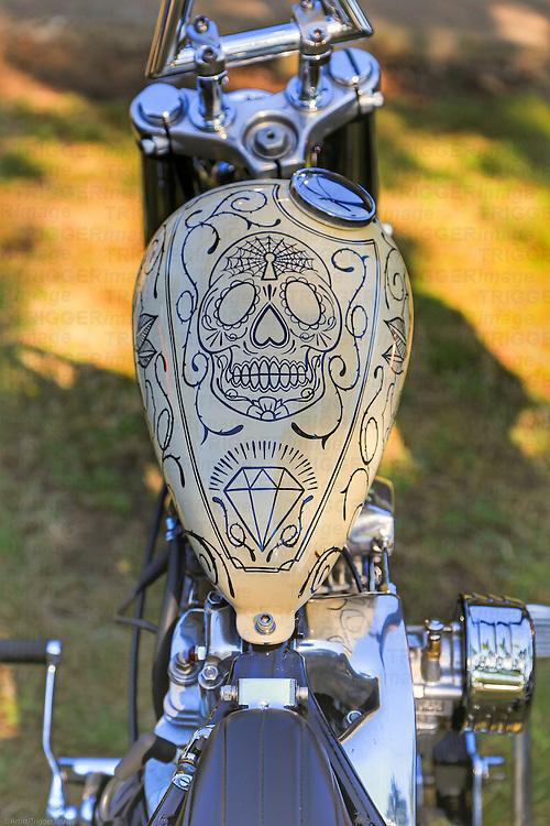 Vintage American motorbike detail