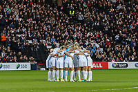 The England Women's team in a huddle ahead of the Women's Friendly match between England Women and Austria Women at stadium:mk, Milton Keynes, England on 10 April 2017. Photo by PRiME Media Images / David Horn.