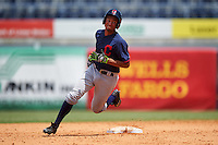 Noah Campbell (11) of Cardinal Gibbons High School in Durham, North Carolina playing for the Cleveland Indians scout team during the East Coast Pro Showcase on August 3, 2016 at George M. Steinbrenner Field in Tampa, Florida.  (Mike Janes/Four Seam Images)