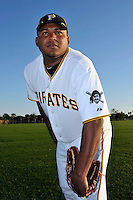 Feb 28, 2010; Bradenton, FL, USA; Pittsburgh Pirates  pitcher Jean Machi (68) during  photoday at Pirate City. Mandatory Credit: Tomasso De Rosa/ Four Seam Images