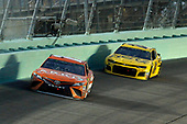 #19: Daniel Suarez, Joe Gibbs Racing, Toyota Camry ARRIS and #24: William Byron, Hendrick Motorsports, Chevrolet Camaro Hertz