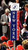 St. Paul, MN - September 1, 2008 -- The New York delegation sign on the floor of the 2008 Republican National Convention in Saint Paul, Minnesota on Monday, September 1, 2008..Ron Sachs / CNP.(RESTRICTION: NO New York or New Jersey Newspapers or newspapers within a 75 mile radius of New York City)