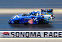 Jul 30, 2017; Sonoma, CA, USA; NHRA funny car driver Jack Beckman during the Sonoma Nationals at Sonoma Raceway. Mandatory Credit: Mark J. Rebilas-USA TODAY Sports