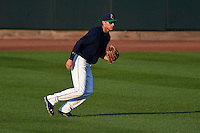 Cedar Rapids Kernels outfielder Zack Larson (23) during a game against the Quad Cities River Bandits on August 18, 2014 at Perfect Game Field at Veterans Memorial Stadium in Cedar Rapids, Iowa.  Cedar Rapids defeated Quad Cities 4-2.  (Mike Janes/Four Seam Images)