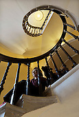 The Blair Estate sale - Caroline Borwick in the one of the spiral stairwells – picture by Donald MacLeod 21.2.12 www.donald-macleod.com clanmacleod@btinternet.com