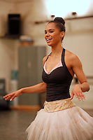 American ballet dancer Misty Copeland, the first African American female soloist for the American Ballet Theatre, rehearses at the ABT studios in Manhattan, NY, on Wednesday, May 29, 2013.  The American Ballet Theatre is one of the three leading classical ballet companies in the United States.