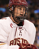 Scott Savage (BC - 2) - The Boston College Eagles defeated the Harvard University Crimson 3-2 in the opening round of the Beanpot on Monday, February 1, 2016, at TD Garden in Boston, Massachusetts.
