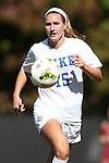 26 October 2014: Duke's Kara Wilson. The Duke University Blue Devils hosted the Boston College University Eagles at Koskinen Stadium in Durham, North Carolina in a 2014 NCAA Division I Women's Soccer match. Duke won the game 2-1 in overtime.