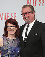 "9 August 2018-  Westwood, California - Kate Flannery, Chris Haston. Premiere Of STX Films' ""Mile 22"" held at The Regency Village Theatre. Photo Credit: Faye Sadou/AdMedia"