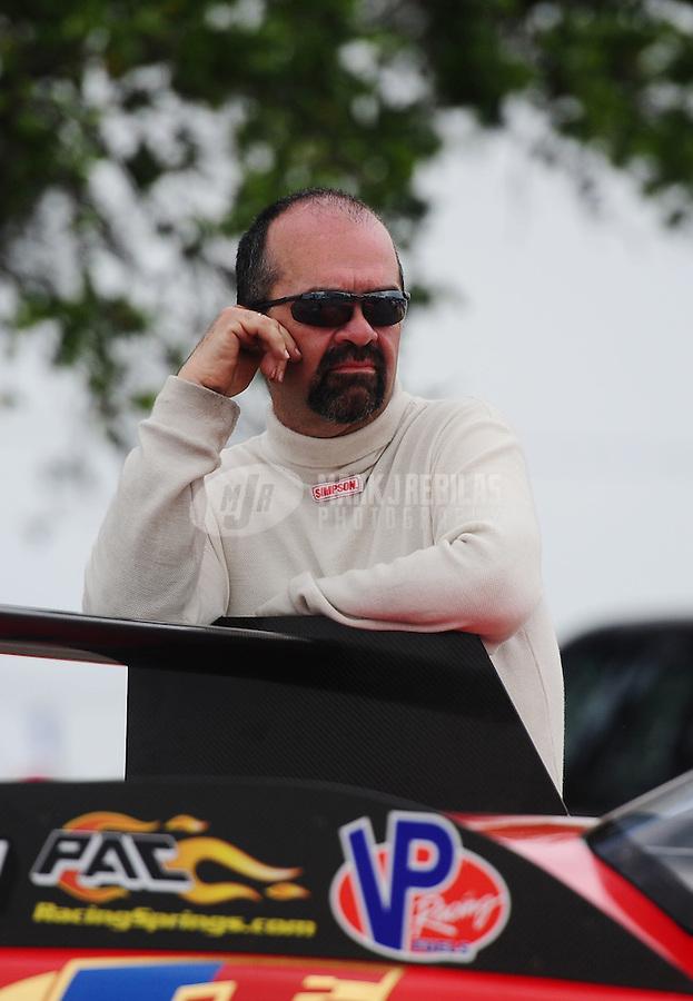 Apr. 30, 2011; Baytown, TX, USA: NHRA pro mod driver Scott Ray during qualifying for the Spring Nationals at Royal Purple Raceway. Mandatory Credit: Mark J. Rebilas-