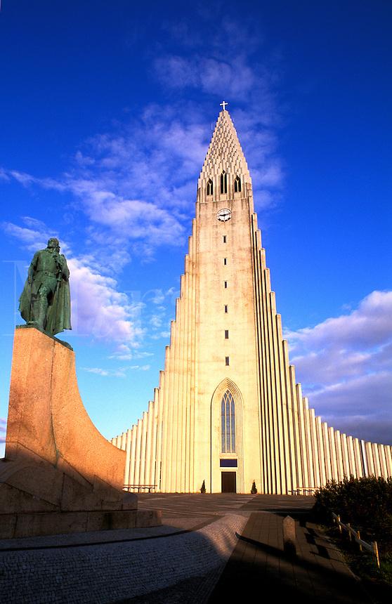 Hallgrims Church, Tallest Building in Iceland.  Reykjavik