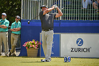 Pat Perez (USA) watches his tee shot on 10 during Round 2 of the Zurich Classic of New Orl, TPC Louisiana, Avondale, Louisiana, USA. 4/27/2018.<br /> Picture: Golffile | Ken Murray<br /> <br /> <br /> All photo usage must carry mandatory copyright credit (&copy; Golffile | Ken Murray)