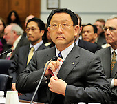 Washington, D.C. - February 24, 2010 --  Akio Toyoda, President and CEO, Toyota Motor Corporation and Yoshimi Inaba, President and CEO, Toyota Motor North America, Inc. testify before the U.S. House Committee on Government and Reform examining the Federal government's response to the recall of millions of Toyota vehicles due to reports of malfunctioning gas pedals, and to gain a better understanding of the nature of the sudden acceleration problem in Toyota vehicles and what should be done about it..Credit: Ron Sachs / CNP.(RESTRICTION: NO New York or New Jersey Newspapers or newspapers within a 75 mile radius of New York City)
