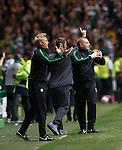 Johan Mjallby and Neil Lennon celebrate goal no 2