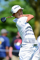 Kelly Shon (USA) watches her tee shot on 2 during Saturday's round 3 of the 2017 KPMG Women's PGA Championship, at Olympia Fields Country Club, Olympia Fields, Illinois. 7/1/2017.<br /> Picture: Golffile | Ken Murray<br /> <br /> <br /> All photo usage must carry mandatory copyright credit (&copy; Golffile | Ken Murray)