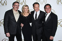 BEVERLY HILLS, CA - JANUARY 19: Vince Gilligan, Michelle MacLaren, Bryan Cranston, Stewart Lyons at the 25th Annual Producers Guild Awards held at The Beverly Hilton Hotel on January 19, 2014 in Beverly Hills, California. (Photo by Xavier Collin/Celebrity Monitor)