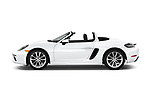 Car driver side profile view of a 2017 Porsche 718 Boxster 2 Door Convertible