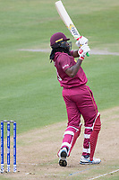 Chris Gayle (West Indies) pulls a short delivery for six over mid wicket during West Indies vs New Zealand, ICC World Cup Warm-Up Match Cricket at the Bristol County Ground on 28th May 2019