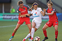 Portland, OR - Wednesday June 28, 2017: Emily Menges, Shea Groom, Meghan Klingenberg during a regular season National Women's Soccer League (NWSL) match between the Portland Thorns FC and FC Kansas City at Providence Park.