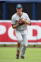 Fort Myers Miracle outfielder Max Kepler (23) throws the ball in during a game against the Charlotte Stone Crabs on April 16, 2014 at Charlotte Sports Park in Port Charlotte, Florida.  Fort Myers defeated Charlotte 6-5.  (Mike Janes/Four Seam Images)