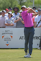 Andrew Wise (USA) watches his tee shot on 11 during round 3 of the AT&amp;T Byron Nelson, Trinity Forest Golf Club, at Dallas, Texas, USA. 5/19/2018.<br /> Picture: Golffile | Ken Murray<br /> <br /> <br /> All photo usage must carry mandatory copyright credit (&copy; Golffile | Ken Murray)